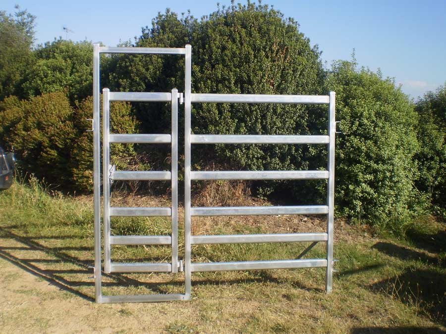 cattle manway gate in panel