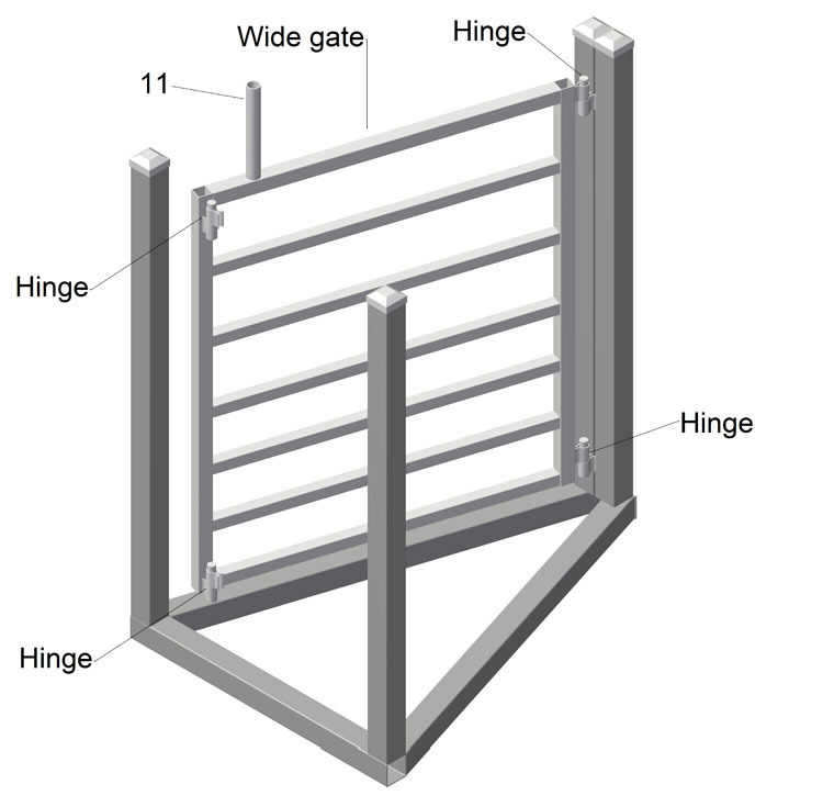 homemade goat and sheep drafting gates 2 way plans