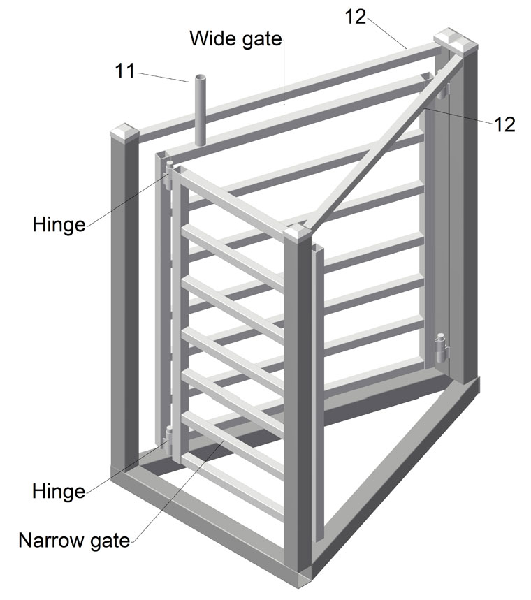 home made sheep and goat sorting gates two way plans