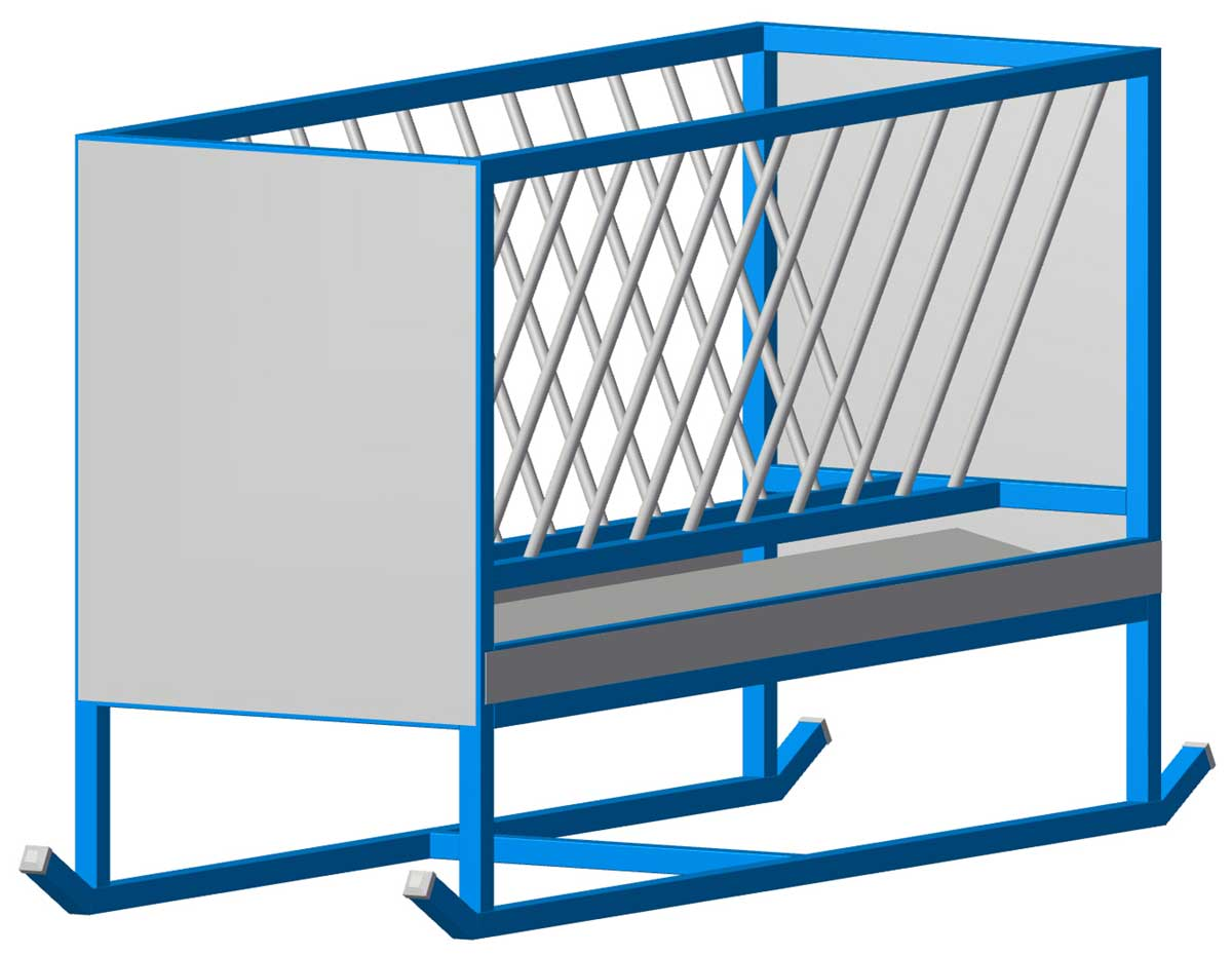 cattle hay feeder end sheets plans