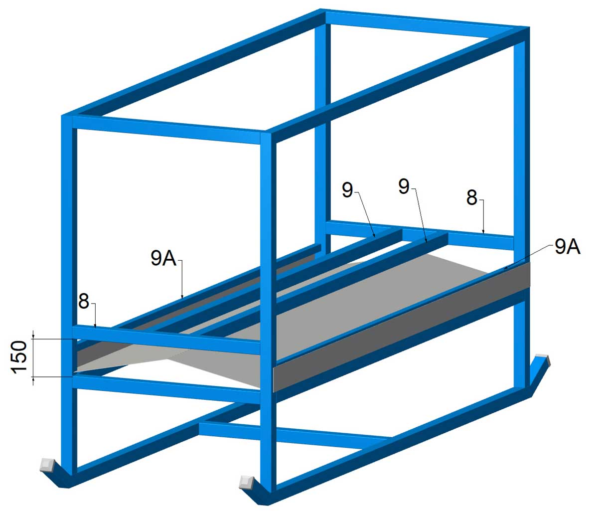 cattle hay feeder steel tray installed plans