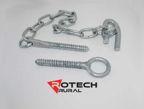 Farm Gate Screw In Ring Latch Kit - 350mm Chain Rotech SCLR350