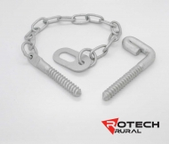 Farm Gate Screw In Oval Latch Kit - 350mm Chain Rotech ORL350