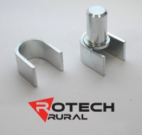 Weld-On Hinge Kit for 25NB Farm Gate. Zinc plated FG10