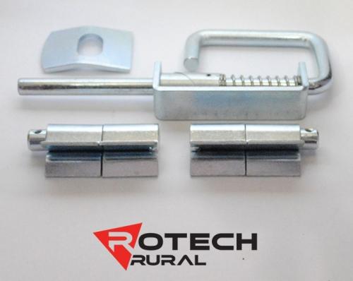 16mm Weld-On Hinge, 14mm Slam Latch & Striker Plate Kit for Sheep Gates