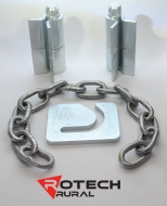 16mm Weld-On Hinges, 6mm Chain & 6mm Chain Latch Plate Kit for Sheep Gates