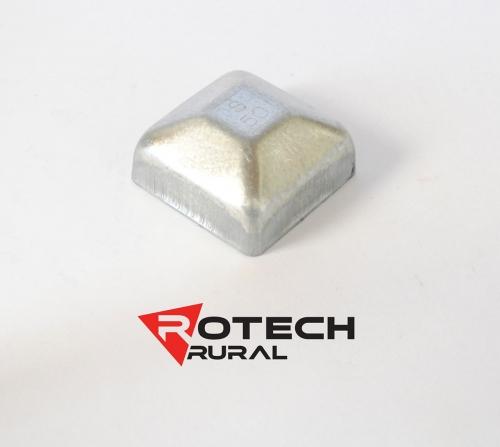 Square Cap Galvanised 50mmx50mm PC050