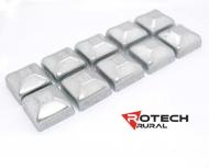 10 x Square Caps Galvanised 50mmx50mm PC050